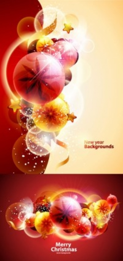 Free vector Vector background  cool christmas symphony of light vector background 3