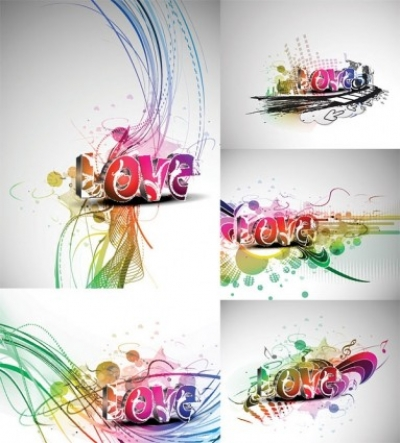 Free vector Vector misc  cool threedimensional vector love wordart