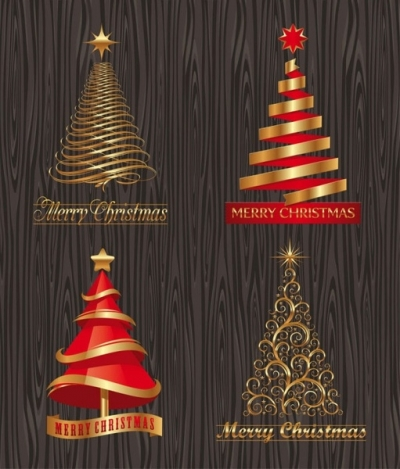 Creative christmas trees vector Free vector 3.64MB