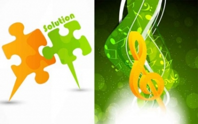 Free vector Vector background  creative puzzle music vector background