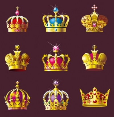 Free vector Vector misc  Crown Vector Set