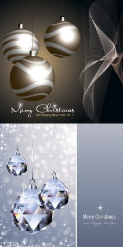 Free vector Vector Christmas  crystal christmas ball and lob vector