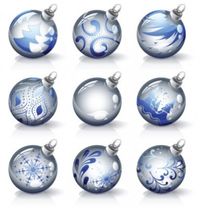 Free vector Vector Christmas  crystal texture of the christmas ball vector