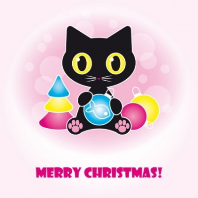 Free vector Vector misc  cute black cat clip art