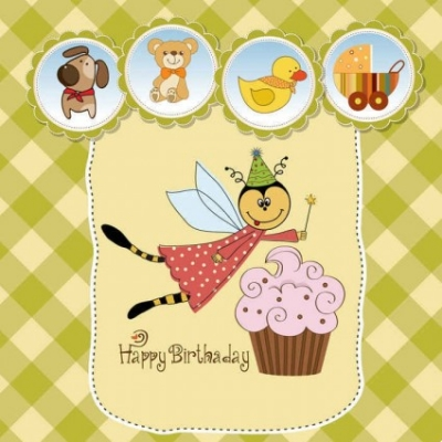 Free vector Vector background  Cute cartoon style children's card design vector