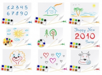 Free vector Vector misc  cute children drawings theme vector