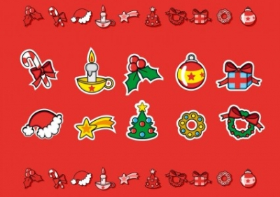 Free vector Vector Christmas  Cute Christmas Candies