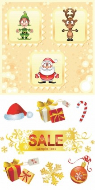 Free vector Vector pattern  cute christmas pattern vector