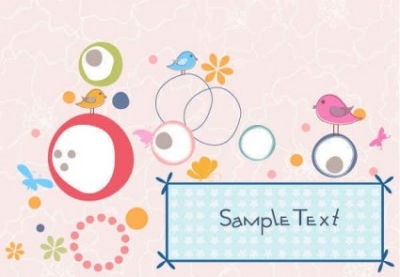 Free vector Vector background  Cute playful birds vector background