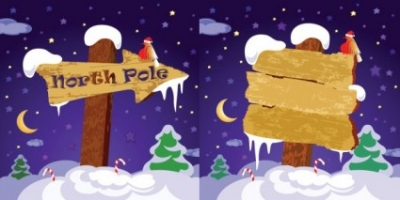 Free vector Vector misc  cute wooden sign vector on snow