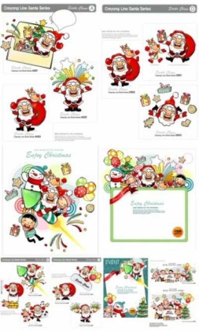 Free vector Vector Christmas  daquan christmas element vector