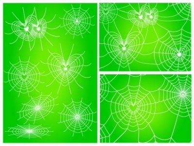 Free vector Vector Heart  diverse spider web love vector network