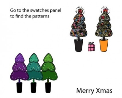 Free vector Vector pattern  doodled christmas Ai patterns