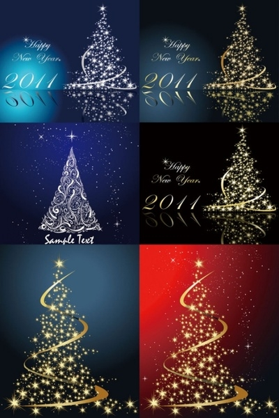 Free vector Vector Christmas  dream bright christmas tree vector
