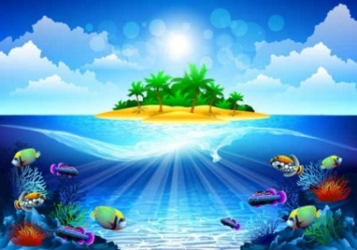 Free vector Vector background  Dream sea background