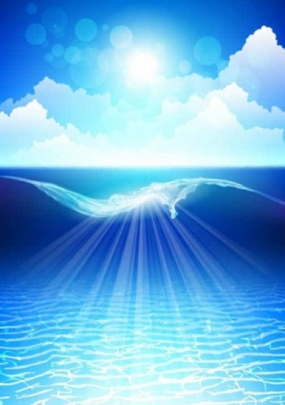 Free vector Vector background  Dream sea water blue background