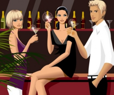 Free vector Vector people  drinking men and women vector fashion