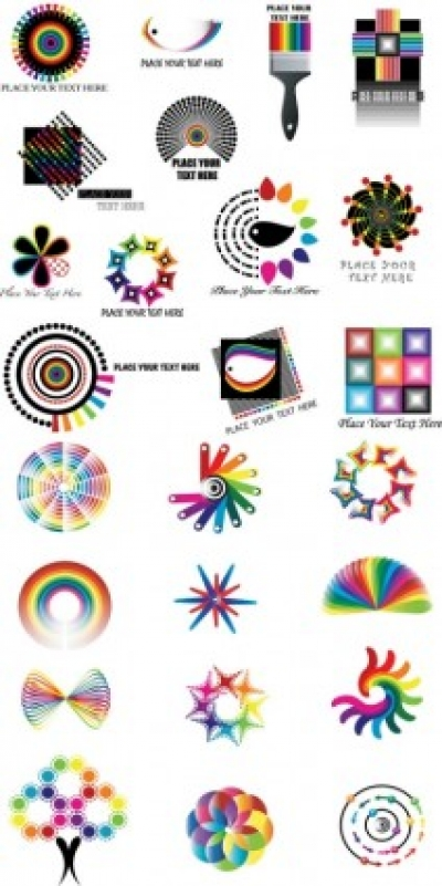 Free vector Vector pattern  dynamic color logo pattern vector