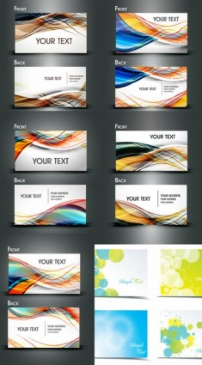 Free vector Vector misc  dynamic flow line business card template vector