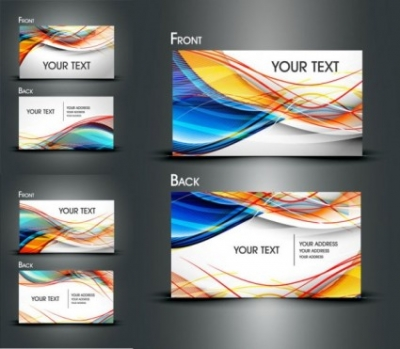 Free vector Vector misc  dynamic lines of business card templates vector