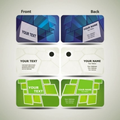 Free vector Vector misc  dynamic technology business card template 01 vector