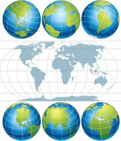 Free vector Vector misc  earth map vector
