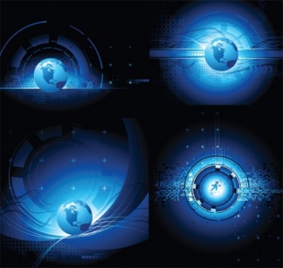 Free vector Vector background  earth science and technology theme vector background sense