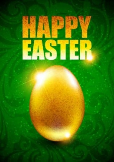 Free vector Vector background  Easter eggs green background
