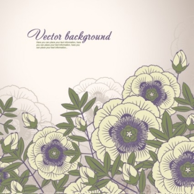 Free vector Vector background  elegant floral background 04 vector