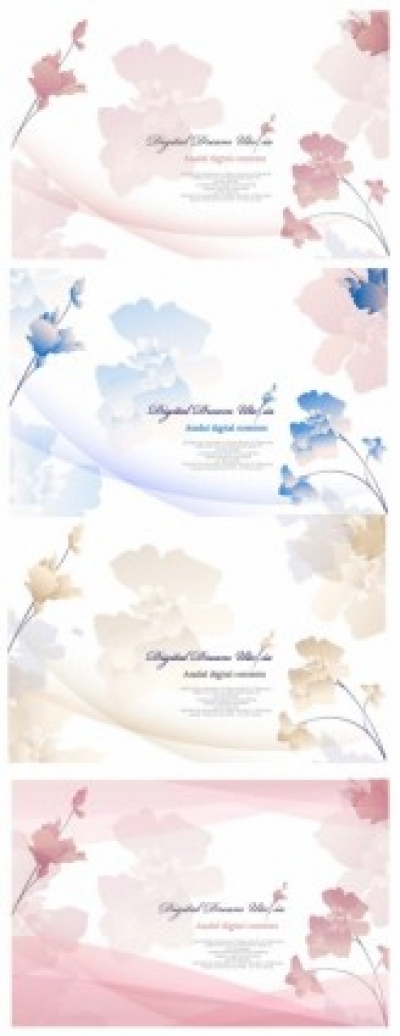 Free vector Vector flower  elegant flowers vector background