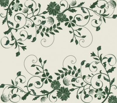 Free vector Vector background  Elegant Green Floral Background Vector Graphic