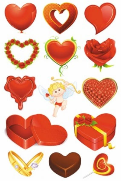 Free vector Vector Heart  elements of romantic valentine39s day 01 vector