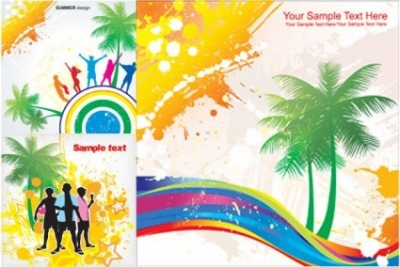 Free vector Vector misc  elements of vector colorful beach swelters