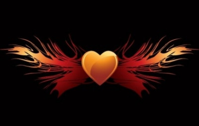 Free vector Vector Heart  EPS vector flaming heart wings
