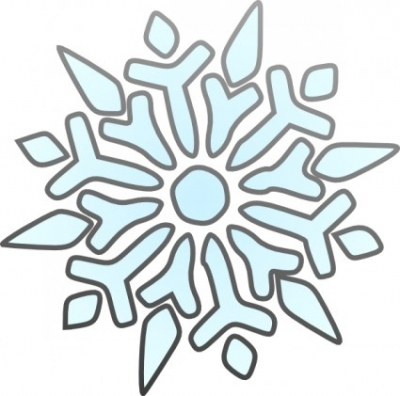 Free vector Vector clip art  Erik Single Snowflake clip art