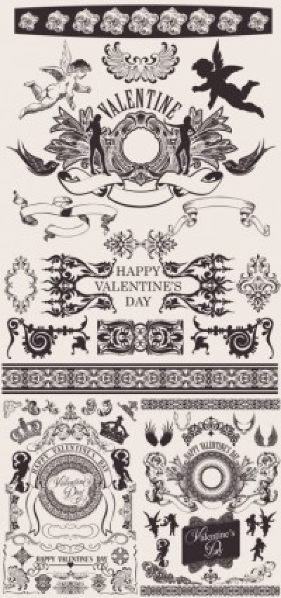 Free vector Vector pattern  european gorgeous valentine day theme classic lace pattern vector