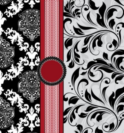 Free vector Vector background  european pattern background cover 01 vector