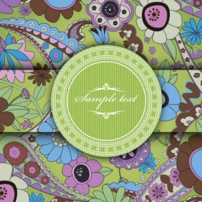 Free vector Vector background  european pattern background cover 03 vector