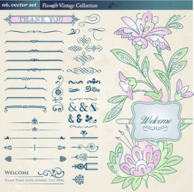 Free vector Vector pattern  european retro floral lace pattern vector 2