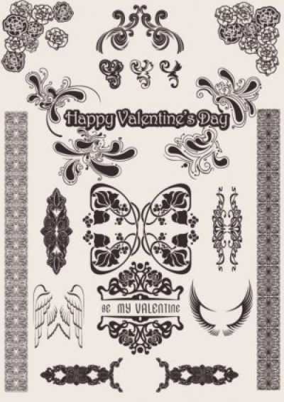 Free vector Vector pattern  europeanstyle love pattern vector