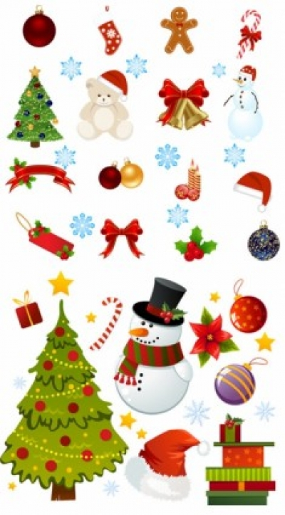 Free vector Vector cartoon  exquisite cartoon christmas ornaments vector