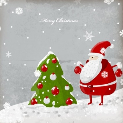 Free vector Vector Christmas  exquisite christmas illustration 02 vector