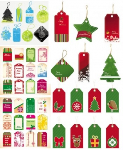 Free vector Vector Christmas  exquisite christmas labels vector