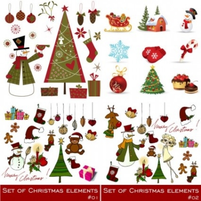 Free vector Vector Christmas  exquisite christmas ornaments vector