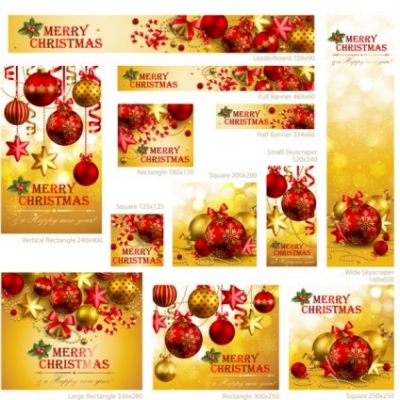 Free vector Vector Christmas  exquisite christmas promotional 01 vector