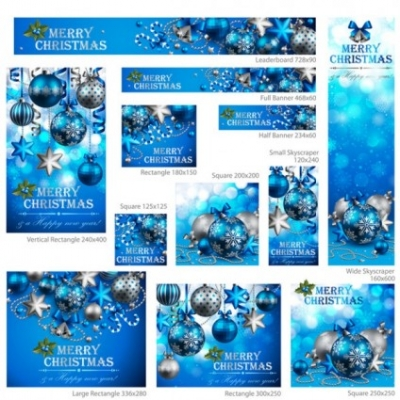 Free vector Vector Christmas  exquisite christmas promotional 02 vector