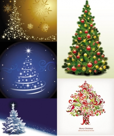 Free vector Vector Christmas  exquisite christmas tree 3 vector
