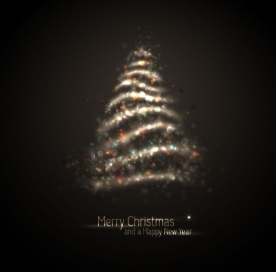 Free vector Vector Christmas  exquisite halo christmas tree 04 vector