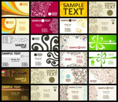 Free vector Vector pattern  exquisite shading pattern business card template 01 vector