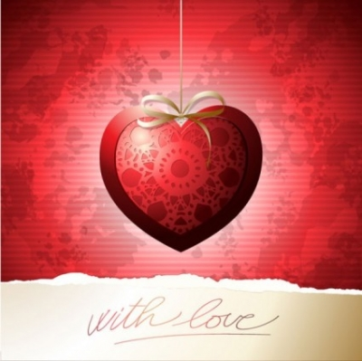 Free vector Vector Heart  exquisite valentine39s day greeting card 01 vector